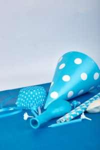 Party blue paper hat.